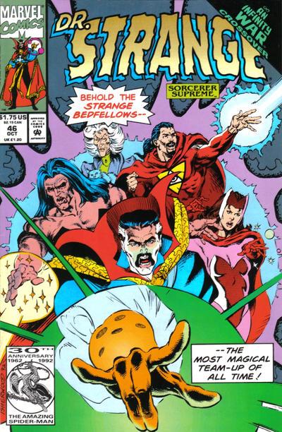 Cover for Doctor Strange, Sorcerer Supreme (Marvel, 1988 series) #46 [Direct Edition]