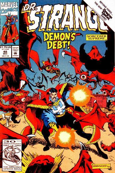Cover for Doctor Strange, Sorcerer Supreme (Marvel, 1988 series) #48 [Direct Edition]
