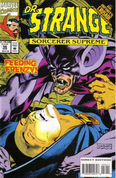 Cover for Doctor Strange, Sorcerer Supreme (Marvel, 1988 series) #56