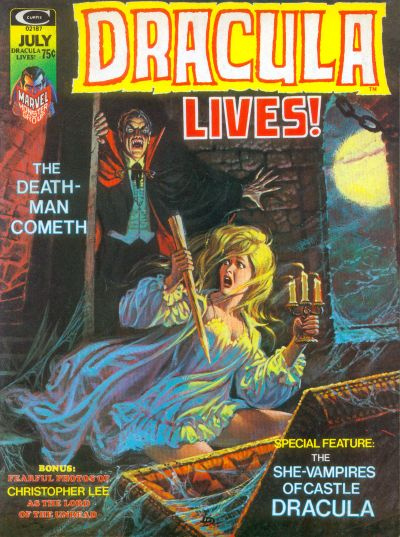 Cover for Dracula Lives (Marvel, 1973 series) #7