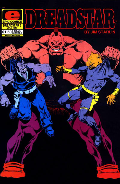 Cover for Dreadstar (Marvel, 1982 series) #5