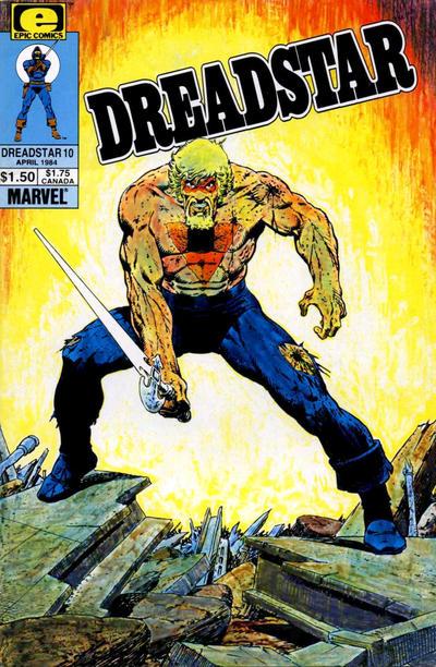 Cover for Dreadstar (Marvel, 1982 series) #10