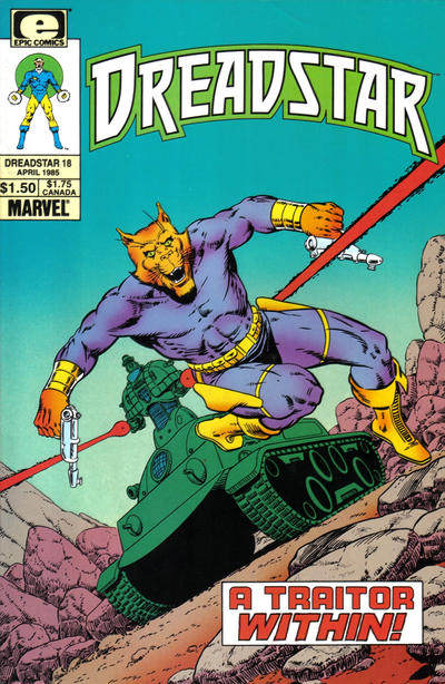 Cover for Dreadstar (Marvel, 1982 series) #18