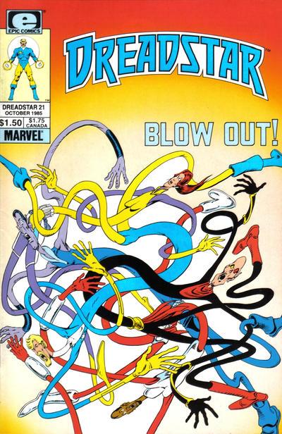 Cover for Dreadstar (Marvel, 1982 series) #21