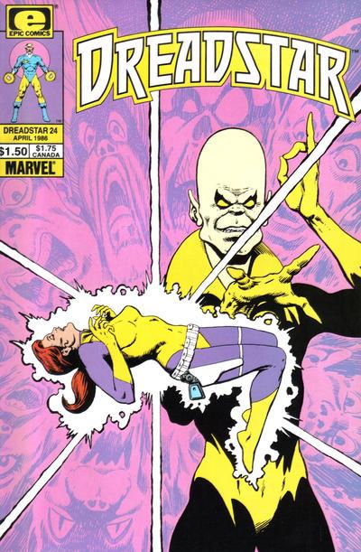 Cover for Dreadstar (Marvel, 1982 series) #24