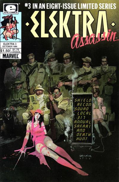 Cover for Elektra: Assassin (Marvel, 1986 series) #3