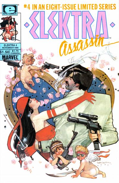 Cover for Elektra: Assassin (Marvel, 1986 series) #4