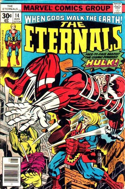 Cover for The Eternals (Marvel, 1976 series) #14 [35¢ Price Variant]
