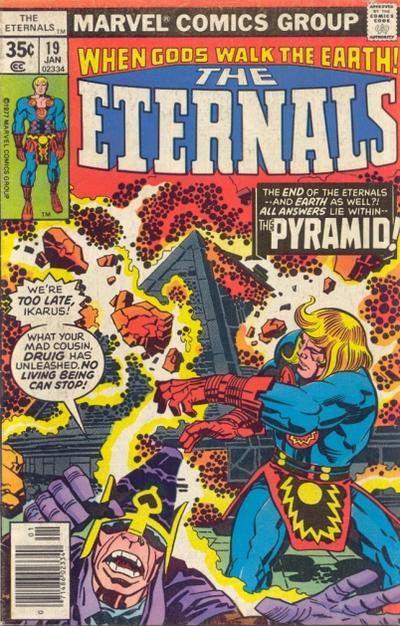 Cover for The Eternals (Marvel, 1976 series) #19
