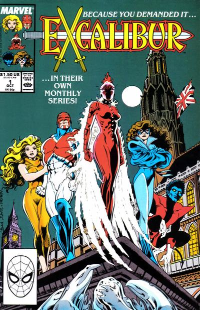 Cover for Excalibur (Marvel, 1988 series) #1 [Direct]