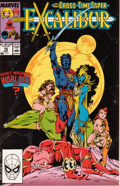 Cover for Excalibur (Marvel, 1988 series) #16 [Direct Edition]