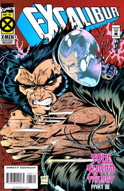 Cover for Excalibur (Marvel, 1988 series) #85 [Direct Edition - Deluxe]
