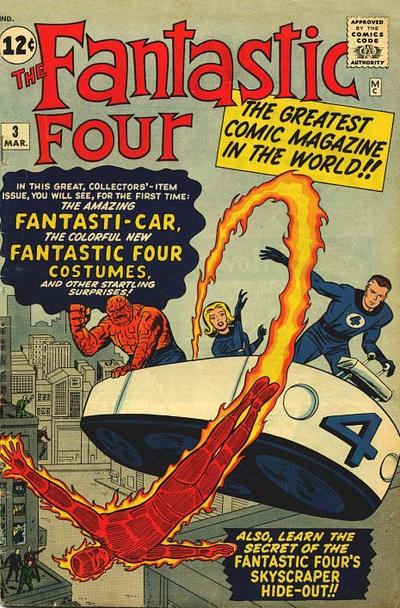 Cover for Fantastic Four (Marvel, 1961 series) #3 [British]