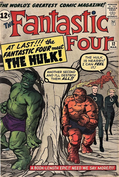 Cover for Fantastic Four (Marvel, 1961 series) #12 [Direct Edition]