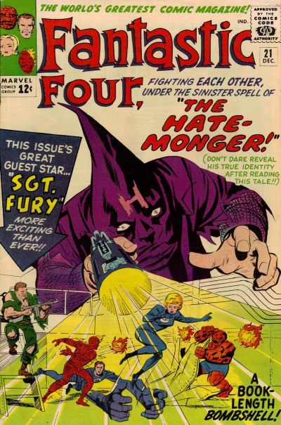 Cover for Fantastic Four (Marvel, 1961 series) #21 [Regular Edition]