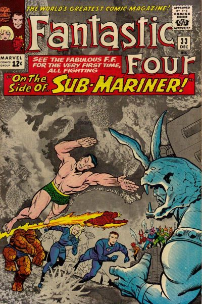 Cover for Fantastic Four (Marvel, 1961 series) #33