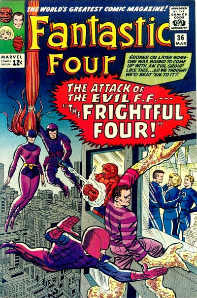 Cover for Fantastic Four (Marvel, 1961 series) #36