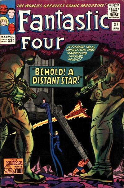 Cover for Fantastic Four (Marvel, 1961 series) #37