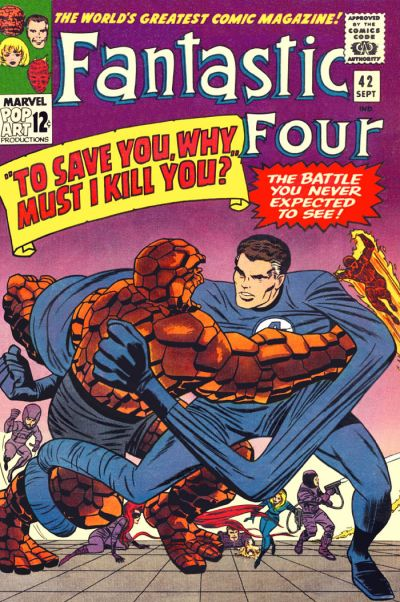 Cover for Fantastic Four (Marvel, 1961 series) #42 [Regular Edition]
