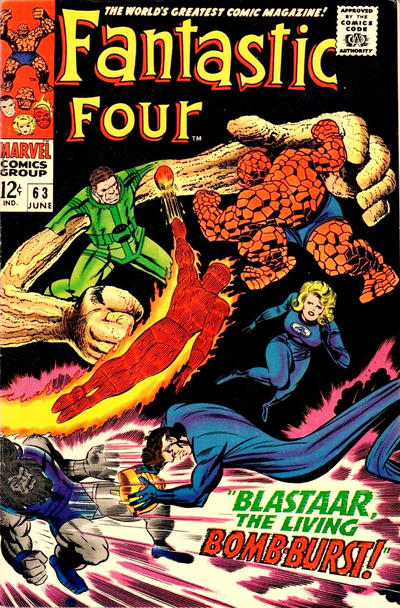 Cover for Fantastic Four (Marvel, 1961 series) #63 [Regular Edition]