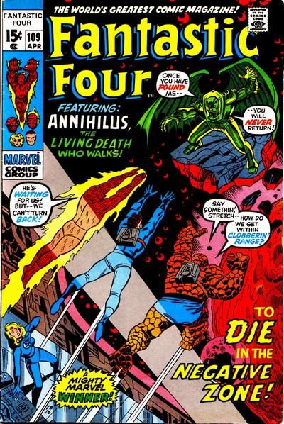 Cover for Fantastic Four (Marvel, 1961 series) #109 [Regular Edition]