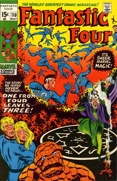 Cover for Fantastic Four (Marvel, 1961 series) #110 [Regular Edition]