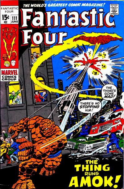 Cover for Fantastic Four (Marvel, 1961 series) #111 [Regular Edition]