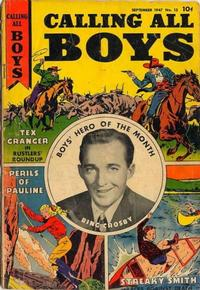 Cover Thumbnail for Calling All Boys (Parents' Magazine Press, 1946 series) #13