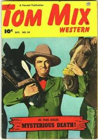 Cover Thumbnail for Tom Mix Western (Fawcett, 1948 series) #34