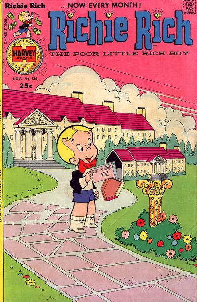 Cover for Richie Rich (Harvey, 1960 series) #136