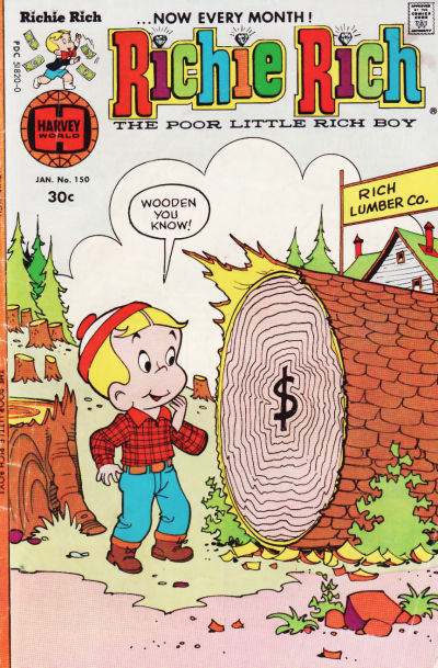 Cover for Richie Rich (Harvey, 1960 series) #150
