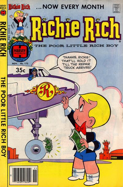 Cover for Richie Rich (Harvey, 1960 series) #172