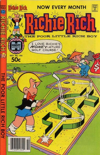 Cover for Richie Rich (Harvey, 1960 series) #195