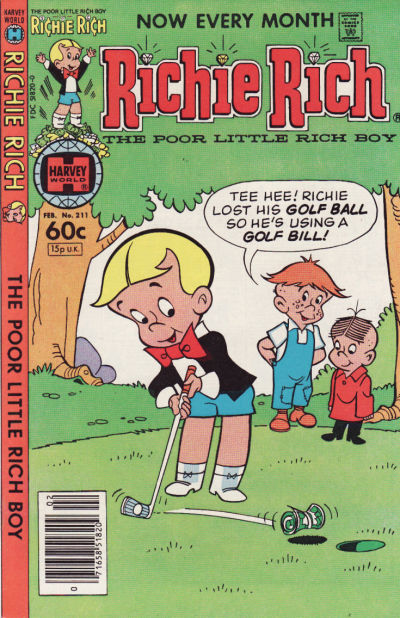 Cover for Richie Rich (Harvey, 1960 series) #211