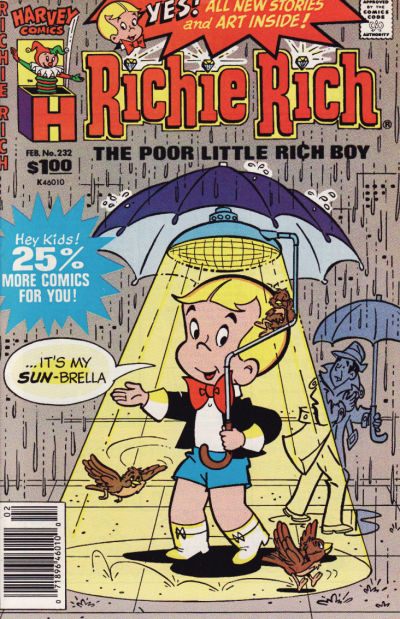 Cover for Richie Rich (Harvey, 1960 series) #232