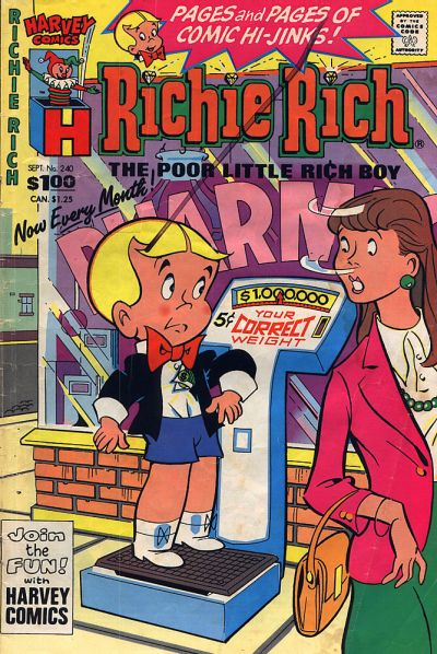 Cover for Richie Rich (Harvey, 1960 series) #240 [Direct]