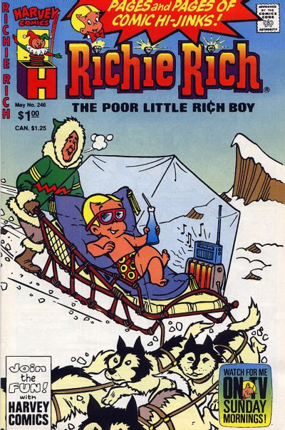 Cover for Richie Rich (Harvey, 1960 series) #246