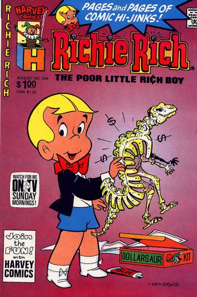 Cover for Richie Rich (Harvey, 1960 series) #249