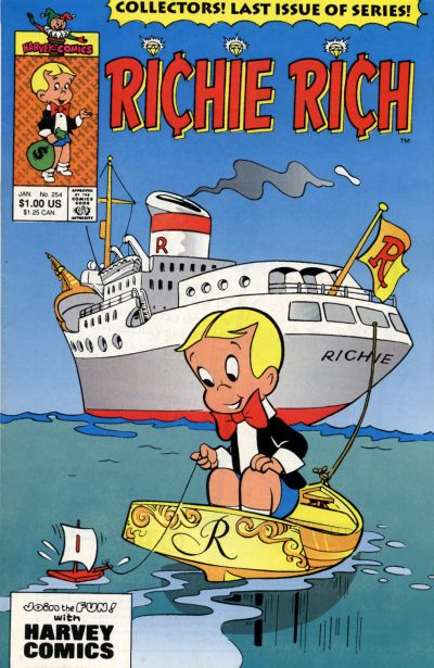 Cover for Richie Rich (Harvey, 1960 series) #254