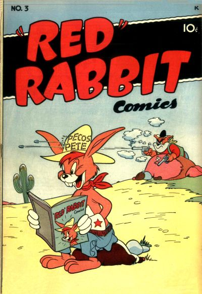 """Cover for """"Red"""" Rabbit Comics (Dearfield Publishing Co., 1947 series) #3"""