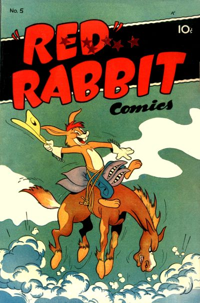 """Cover for """"Red"""" Rabbit Comics (Dearfield Publishing Co., 1947 series) #5"""