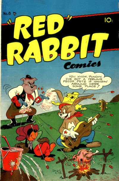 """Cover for """"Red"""" Rabbit Comics (Dearfield Publishing Co., 1947 series) #8"""