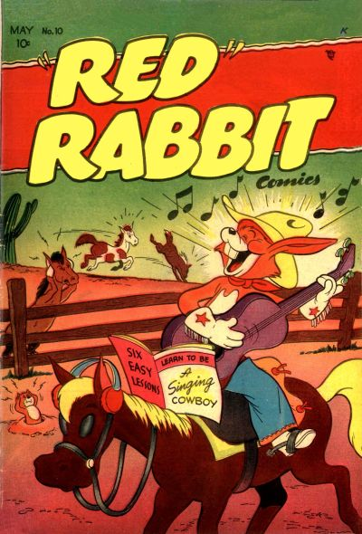 """Cover for """"Red"""" Rabbit Comics (Dearfield Publishing Co., 1947 series) #10"""