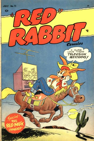 """Cover for """"Red"""" Rabbit Comics (Dearfield Publishing Co., 1947 series) #11"""