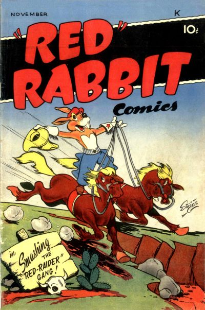 """Cover for """"Red"""" Rabbit Comics (Dearfield Publishing Co., 1947 series) #13"""