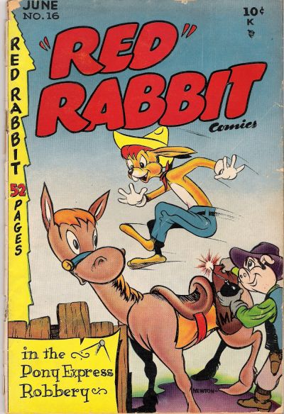 """Cover for """"Red"""" Rabbit Comics (Dearfield Publishing Co., 1947 series) #16"""