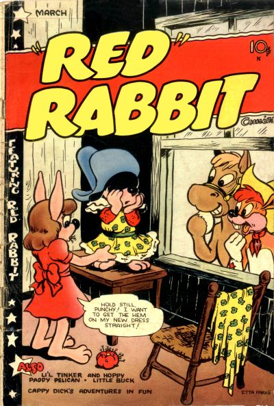 """Cover for """"Red"""" Rabbit Comics (Dearfield Publishing Co., 1947 series) #19"""