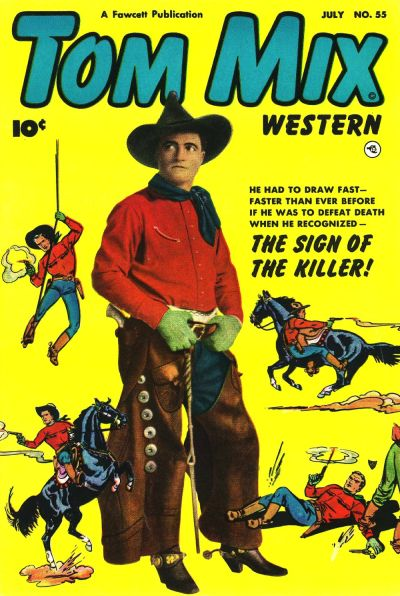 Cover for Tom Mix Western (Fawcett, 1948 series) #55