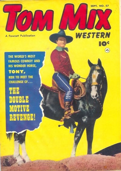 Cover for Tom Mix Western (Fawcett, 1948 series) #57