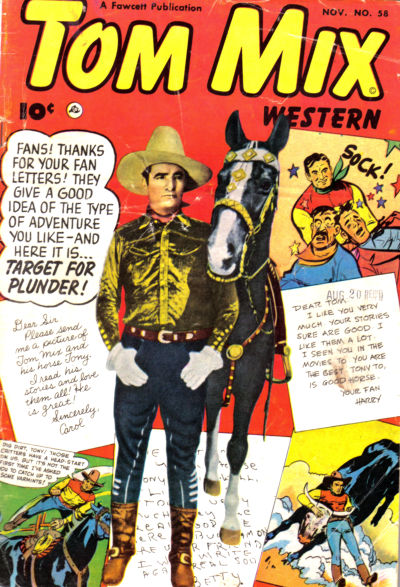 Cover for Tom Mix Western (Fawcett, 1948 series) #58